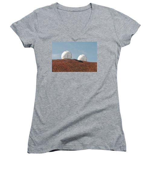 Keck 1 And Keck 2 Women's V-Neck T-Shirt