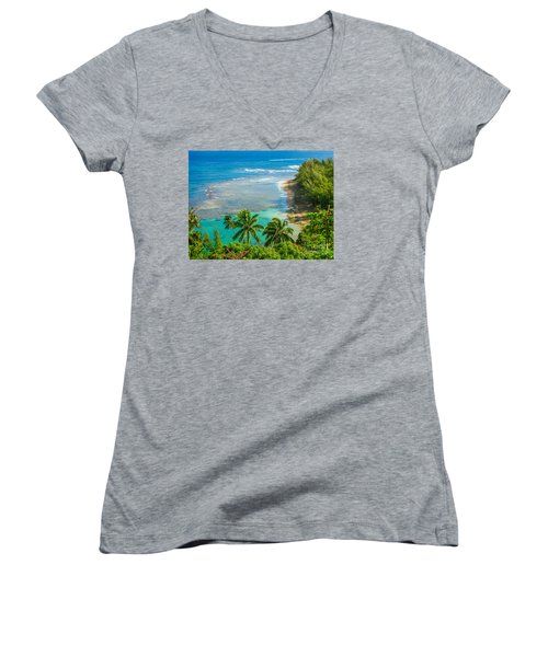 Kee Beach Kauai Women's V-Neck