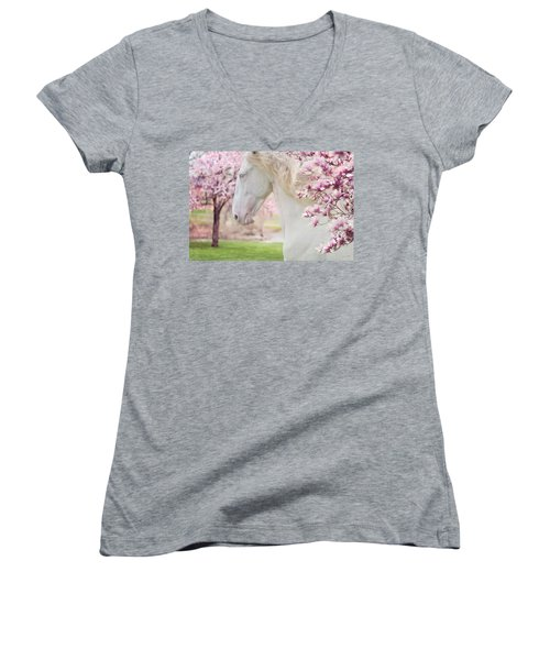 Keep Calm Spring Is Coming Women's V-Neck (Athletic Fit)