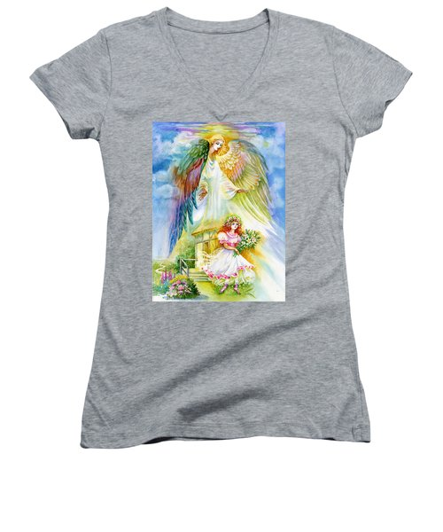 Keep Her Safe Lord Women's V-Neck