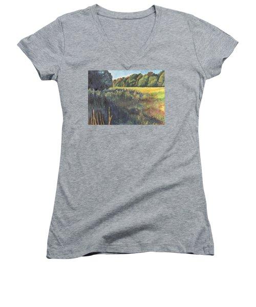 Keep On The Sunny Side Women's V-Neck T-Shirt