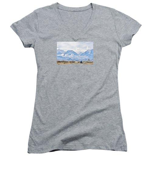 Keep On Trucking Women's V-Neck T-Shirt (Junior Cut) by Marilyn Diaz