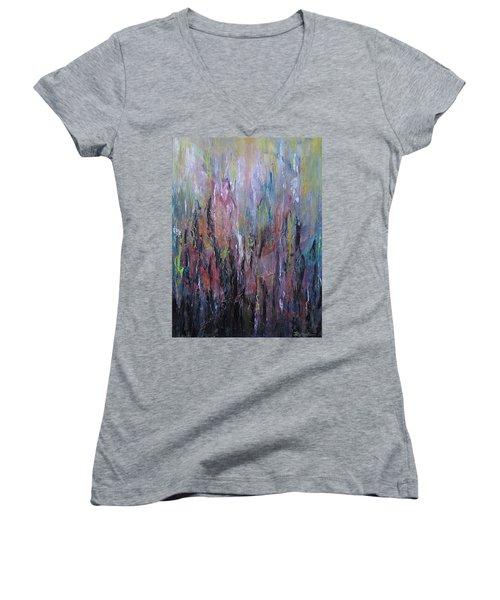 Keeping Pace Women's V-Neck T-Shirt (Junior Cut) by Roberta Rotunda