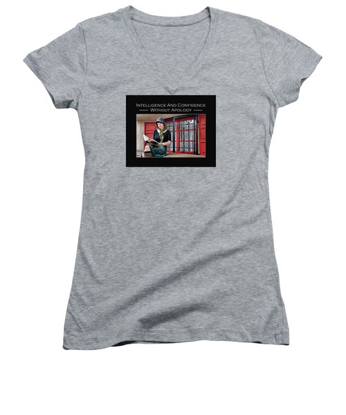 Kellie Peach 1-33 Women's V-Neck T-Shirt