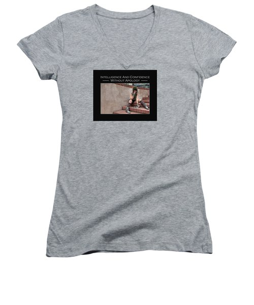 Kellie Peach 11-204 Women's V-Neck T-Shirt