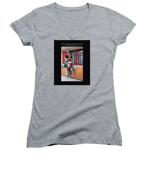Kellie Peach 2-45 Women's V-Neck T-Shirt