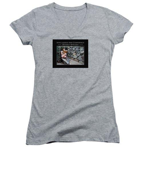 Kellie Peach 8-124 Women's V-Neck T-Shirt