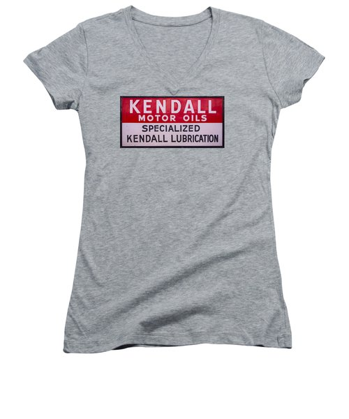 Kendall Motor Oils Sign Women's V-Neck (Athletic Fit)