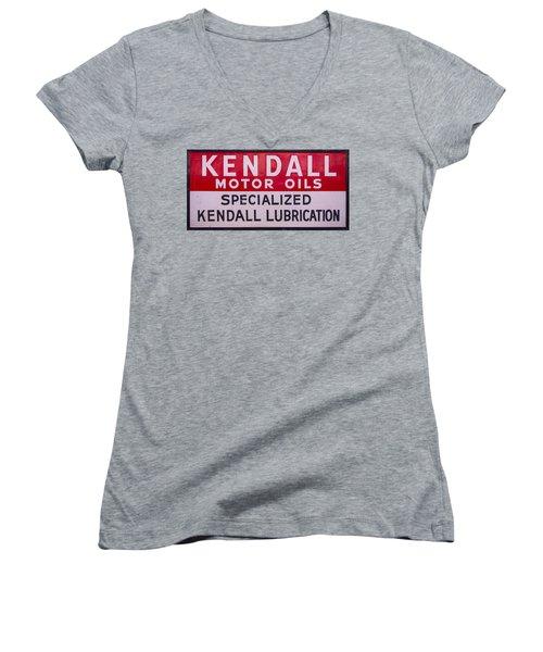Kendall Motor Oils Sign Women's V-Neck