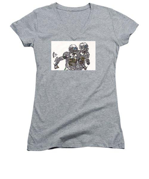 Kenjon Barner And Marcus Mariota Women's V-Neck T-Shirt