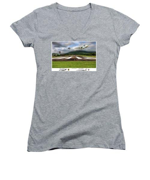 Kep Field Air Show Women's V-Neck T-Shirt