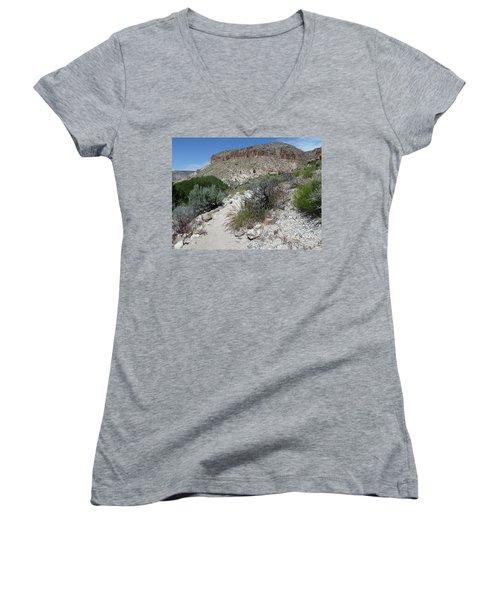Kershaw-ryan State Park Women's V-Neck T-Shirt (Junior Cut) by Joel Deutsch