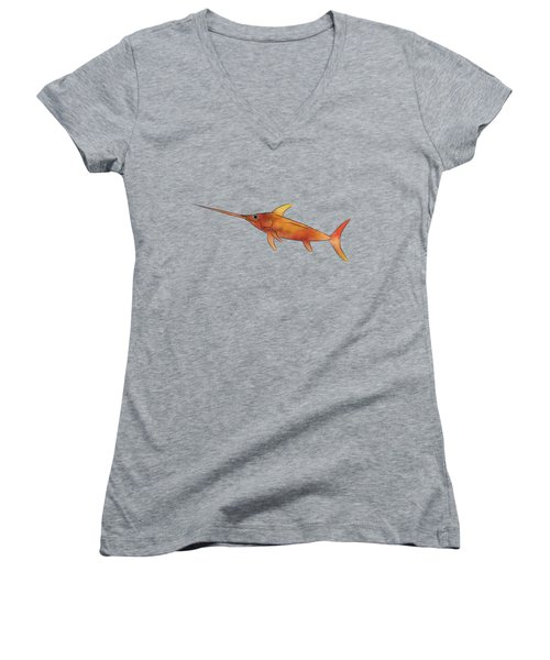 Kessonius V1 - Amazing Swordfish Women's V-Neck T-Shirt (Junior Cut)
