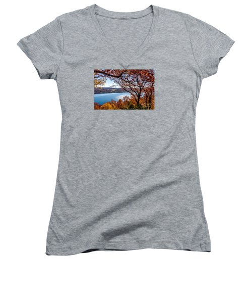 Keuka Lake Vista Women's V-Neck T-Shirt