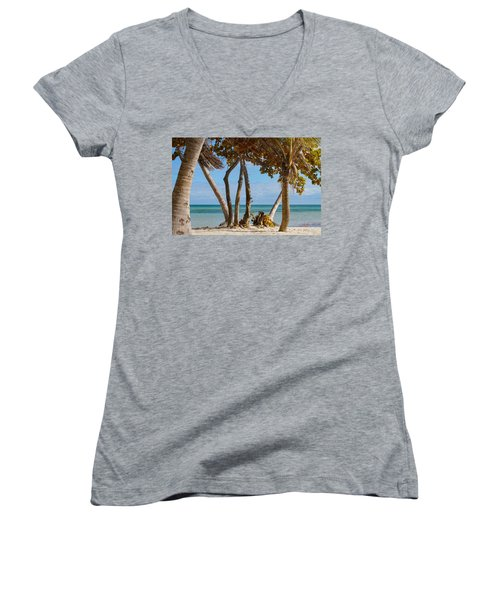 Key West Afternoon Women's V-Neck (Athletic Fit)