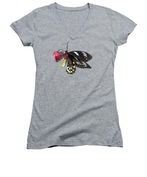 Key West Butterfly 12 Women's V-Neck