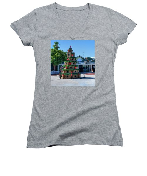 Key West Christmas Women's V-Neck (Athletic Fit)