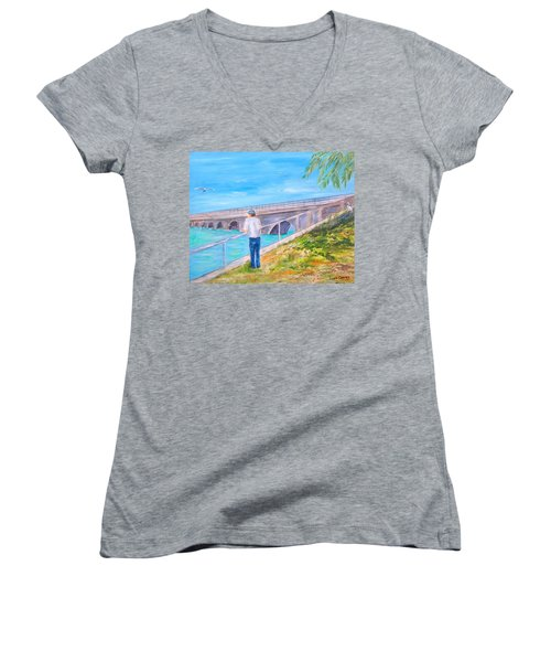 Keys Fishin' Women's V-Neck (Athletic Fit)