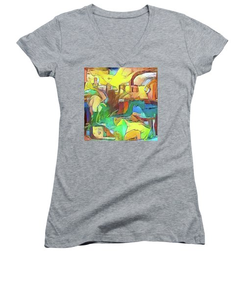 Kick The Can Down The Street Women's V-Neck