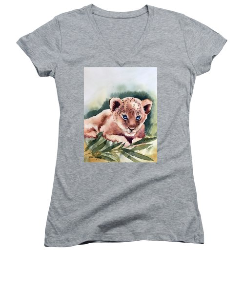 Kijani The Lion Cub Women's V-Neck