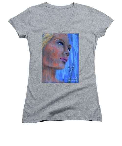 Kimberly Women's V-Neck T-Shirt (Junior Cut)