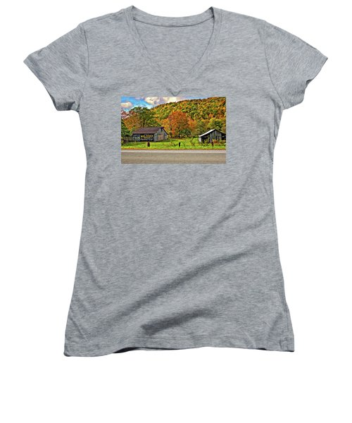 Kindred Barns Women's V-Neck T-Shirt