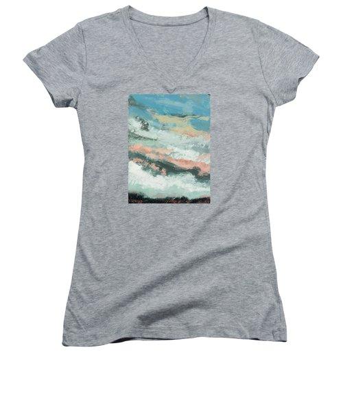 Kindred Women's V-Neck T-Shirt (Junior Cut) by Nathan Rhoads