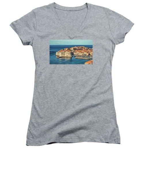 Kings Landing Dubrovnik Croatia - Dwp512798 Women's V-Neck