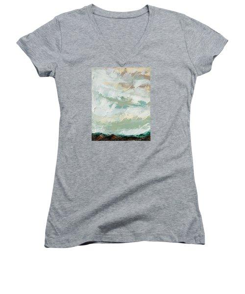 Kiss Women's V-Neck T-Shirt (Junior Cut) by Nathan Rhoads