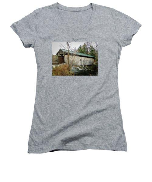 Kissing Bridge Women's V-Neck T-Shirt