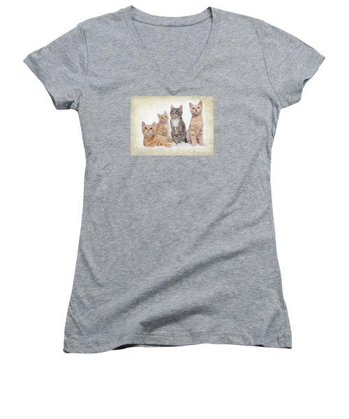 Kittens Women's V-Neck T-Shirt