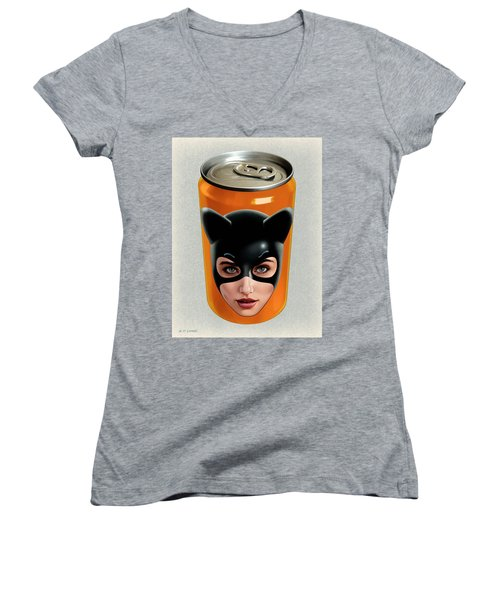 Kitty Can 2 Women's V-Neck (Athletic Fit)