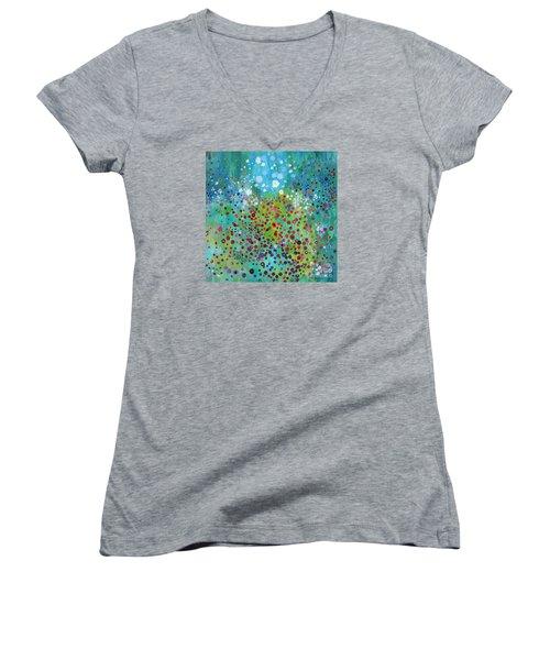 Klimt's Garden Women's V-Neck T-Shirt
