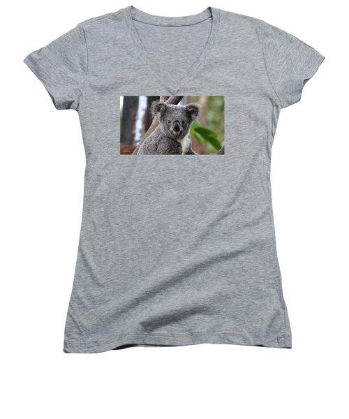 Koala Bear 7 Women's V-Neck (Athletic Fit)