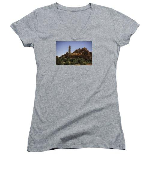 Kodachrome Hoodoo Women's V-Neck T-Shirt (Junior Cut) by Elizabeth Eldridge