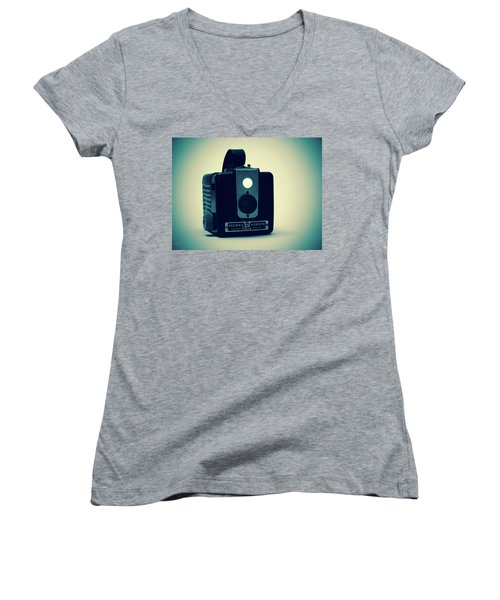 Kodak Brownie Women's V-Neck T-Shirt