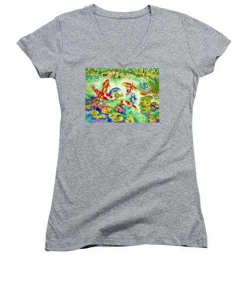 Koi Pond I Women's V-Neck (Athletic Fit)