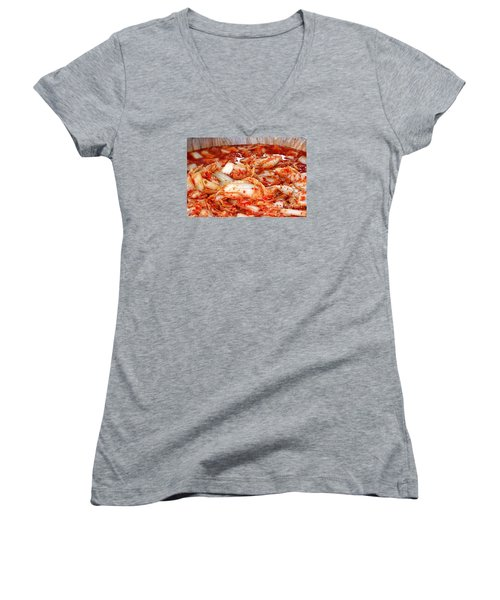 Korean Style Fermented Spicy Cabbage Women's V-Neck