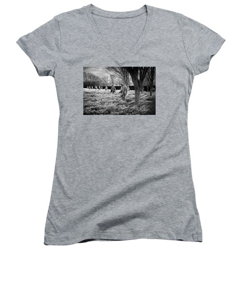 Korean War Memorial Women's V-Neck T-Shirt