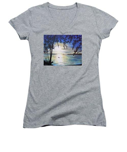 Krabi Women's V-Neck T-Shirt (Junior Cut) by Stuart Engel