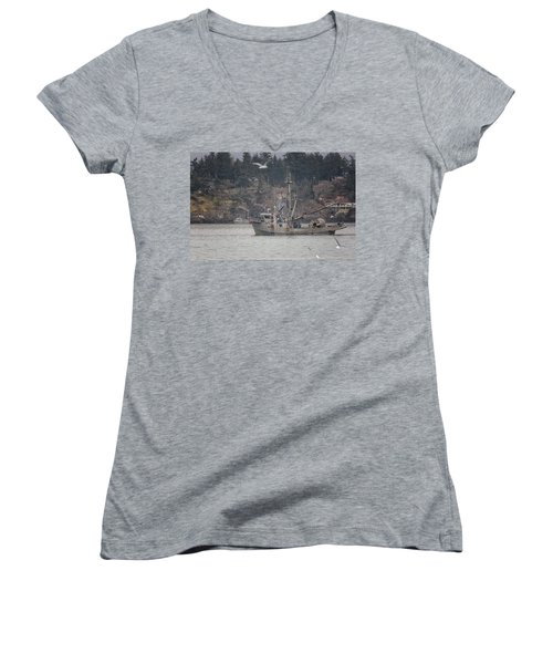 Kwiaahwah Women's V-Neck T-Shirt (Junior Cut) by Randy Hall