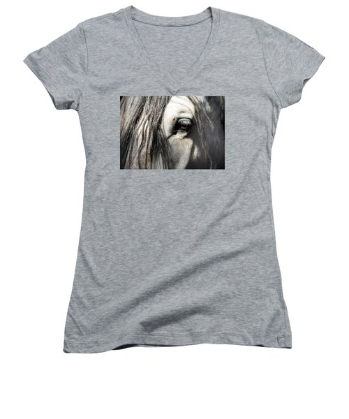 Kyra's Soul Women's V-Neck T-Shirt (Junior Cut) by Lynn Palmer