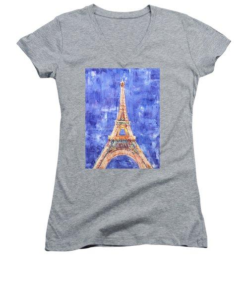 La Tour Eiffel Women's V-Neck