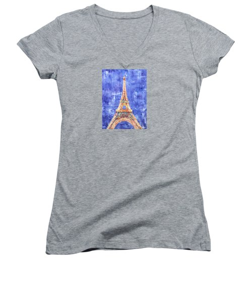 La Tour Eiffel Women's V-Neck T-Shirt