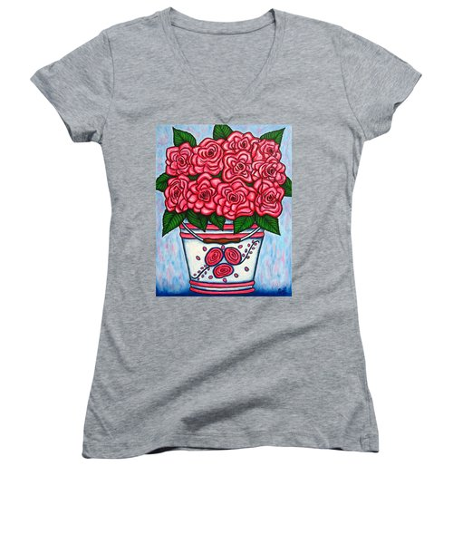 La Vie En Rose Women's V-Neck