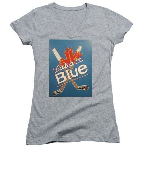 Labatt Blue Women's V-Neck T-Shirt