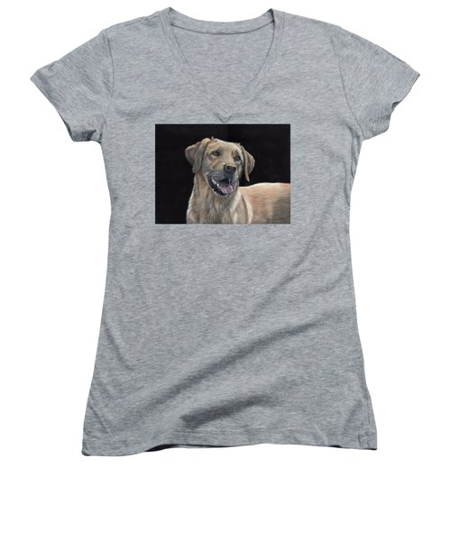 Labrador Portrait Women's V-Neck