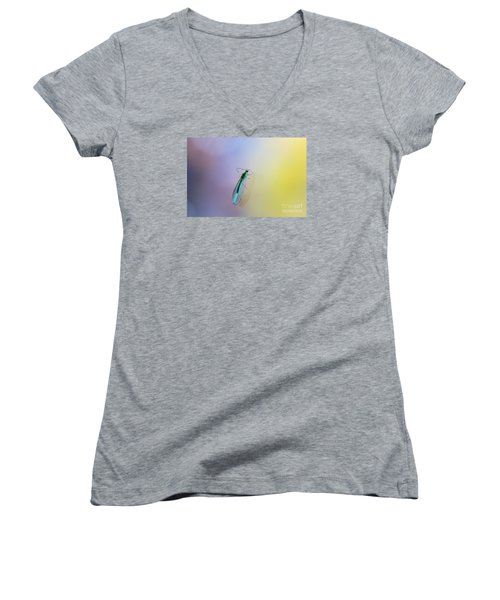 Women's V-Neck T-Shirt (Junior Cut) featuring the photograph Lace Beauty by Jivko Nakev