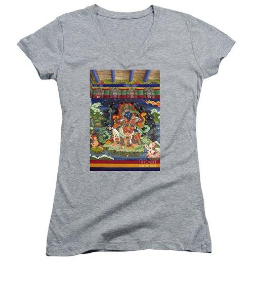 Ladakh_17-8 Women's V-Neck T-Shirt (Junior Cut) by Craig Lovell