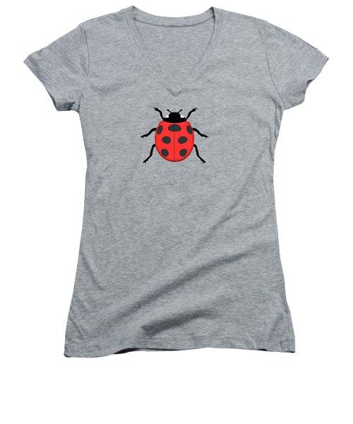 Ladybug Women's V-Neck T-Shirt